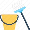bucket, cleaning, housekeeping, janitor, mop icon