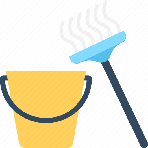 Bucket, cleaning, housekeeping, janitor, mop icon - Download on Iconfinder