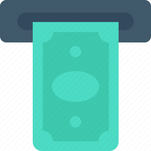 Atm, atm withdrawal, banking, cash withdrawal, dollar, transaction icon - Download on Iconfinder
