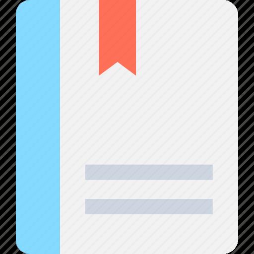 book, bookmark, diary, memo, notebook icon