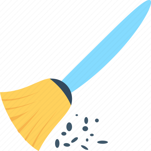 broom, cleaning, cleaning supplies, mop, sweeping brush icon