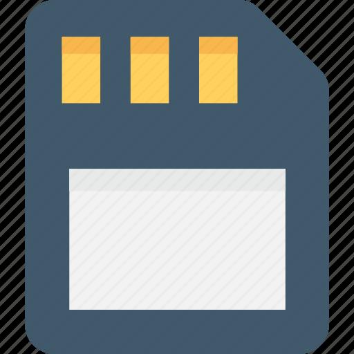 Data storage, memory card, memory storage, sd card, storage device icon - Download on Iconfinder
