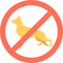 animal restriction, dog, forbidden, no animal allowed, pet icon