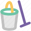 bucket, color bucket, pail, paint, paint bucket, painting icon