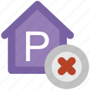 cross sign, forbid, no parking, parking ban, prohibit icon