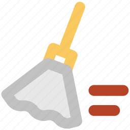 broom, clean, cleaning brush, mop, sweeping, sweeping brush icon