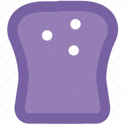 bakery, bread, breakfast, gluten, loaves of bread, sponge cake, toast icon