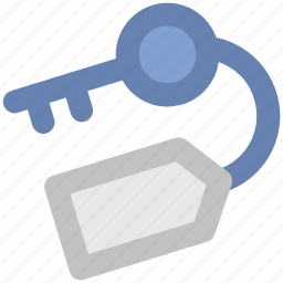 key, key tag, lock, password, protection, safety icon