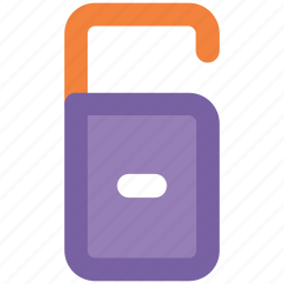 cancel, door, door hanger, door label, exit, hotel door hanger, minus, tag icon