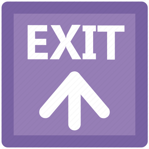 exit, exit arrow, exit sign, exit signal, house door, out sign icon