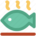 fish, fish food, fish meat, fried fish, roast fish, sea food icon