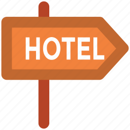 destination, direction board, hotel direction, hotel signpost, signpost icon