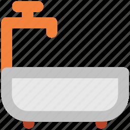 bath, bathing tub, bathroom, bathtub, shower, shower tub, tub icon