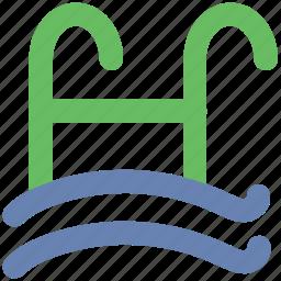pool ladders, pool stairs, pool steps, sea ladder, swimming ladder, swimming pool icon