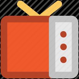 antenna television, flat panel display, lcd, multimedia, tv, tv screen, vintage tv icon