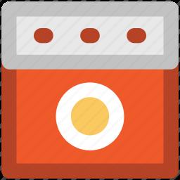 burner oven, cooking range, gas range, gas stove, range burner, stove icon