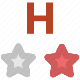 ranking star, rating star, star ornament, stars, two stars, two stars hotel icon
