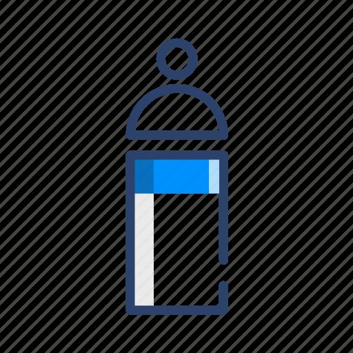 bottle, milk, travel icon