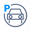 car, park, parking icon