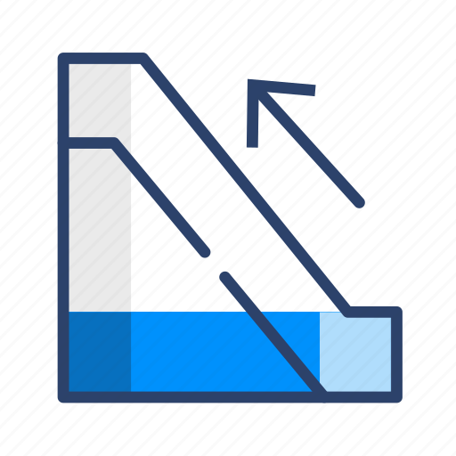 escalator, stair, stairs, travel icon