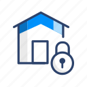 home, lock, property, protection, safety, secure, security icon
