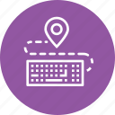 computer, destination, device, holiday, keyboard, location, pin icon