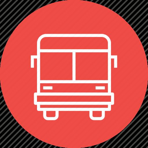 bus, public, school, transport, transportation, travel, vehicle icon
