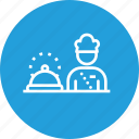 chef, cook, food, hotel, platter, restaurant, serve icon