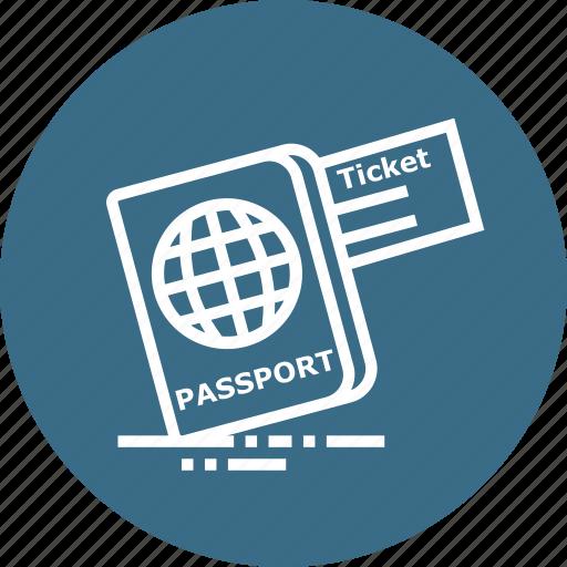 document, identity, passport, ticket, tourism, travel, visa icon