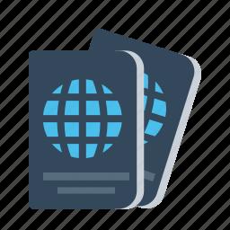 document, identity, luggage, passport, tourism, travel, visa icon
