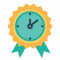 award, badge, leaderboard, medal, prize, reward, time icon
