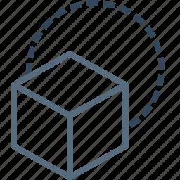 box, cube, design, fun, hotel, playing, restaurant icon