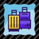 bag, baggage, hotel, luggage, suitcase, tourism, travel icon icon