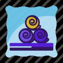 blanket, hostel, hotel, pillow, sleep, travel icon icon