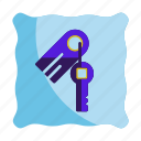 hotel, key, room, security, travel, vacation icon icon