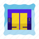 down, elevator, hotel, lift, property, up icon icon