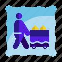 bellboy, food serving, hotel, hotel service, room service icon