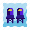 chair, furniture, house, interior, meeting, office icon