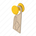 cartoon, disturb, do, door, hanger, hotel, not icon
