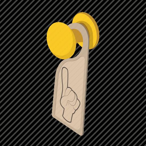 cartoon, disturb, do, door, hanger, hotel, not icon