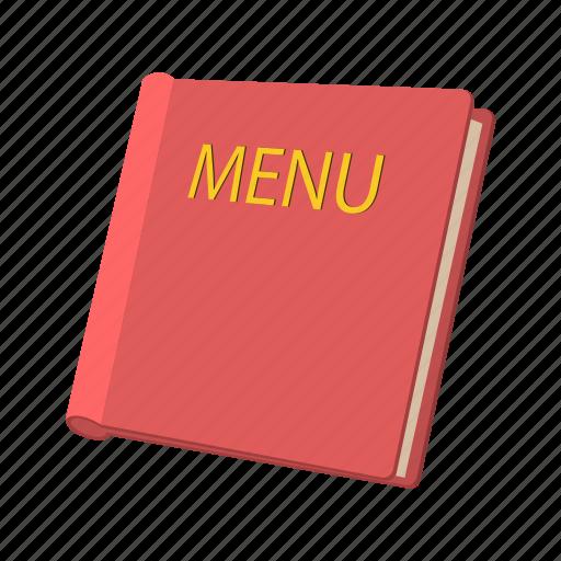 card, cartoon, decoration, food, menu, red, restaurant icon