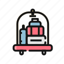 basket, cart, luggage, service, transport, trolley icon