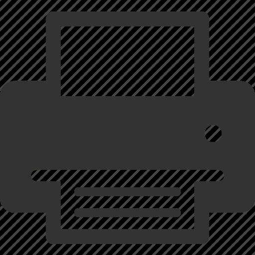 device, document, print, printer icon