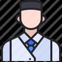 avatar, concierge, hotel, man, service icon
