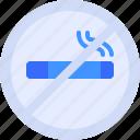 cigarette, forbidden, hotel, no, smoking icon
