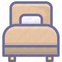 bed, furniture, home, hotel, rest, room icon