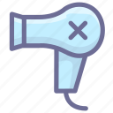 electric equipment, hair dryer, home, hotel icon