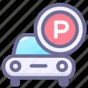 car, car park, hotel, park icon