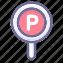 car, car park, hotel icon