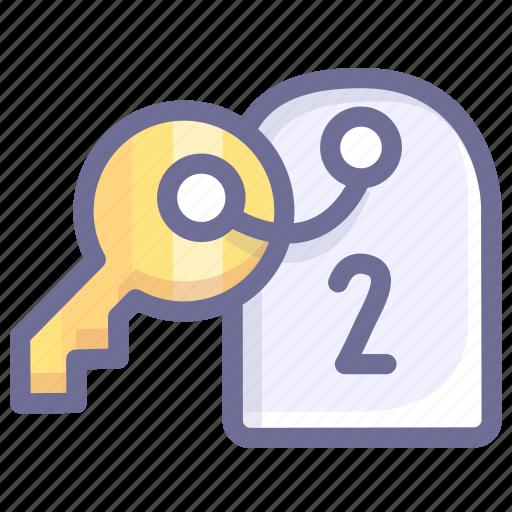 home, hotel, key, room icon